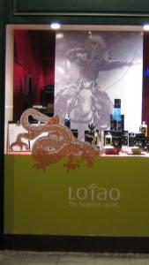 Schaufenster-Deko mit Lotao Reis